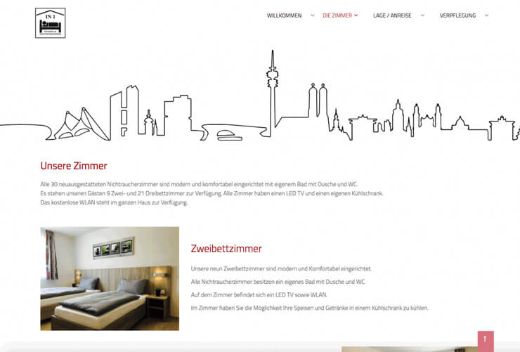 "Web design for the guesthouse ""IN1"""